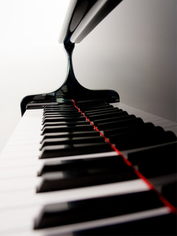 Close-up of Grand Piano Wall Mural