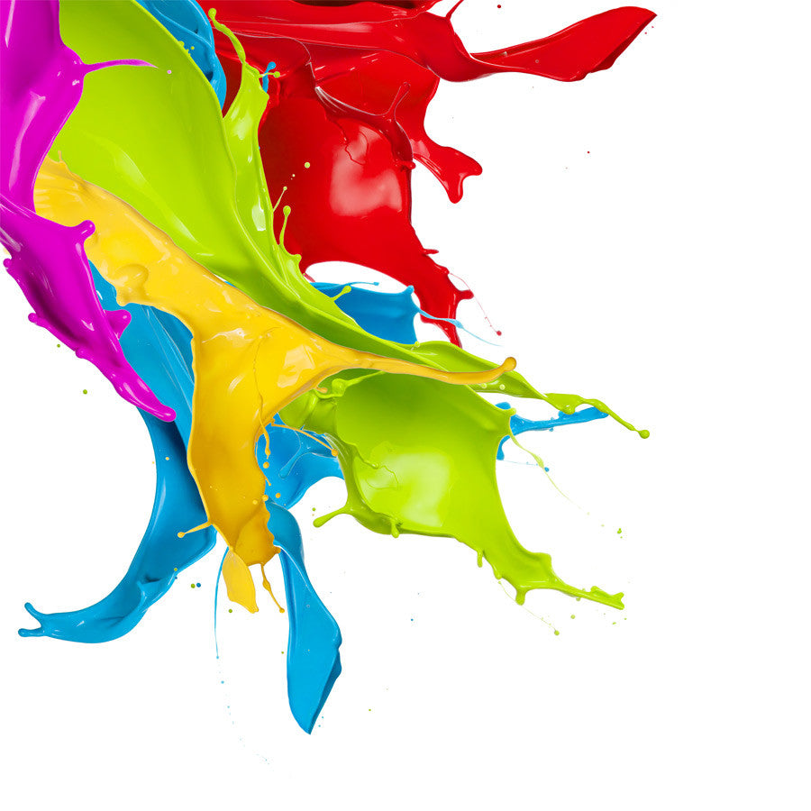 Coloured Paint Splashes 3 Wall Mural