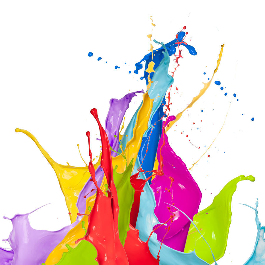 Coloured Splashes of Colour Wall Mural