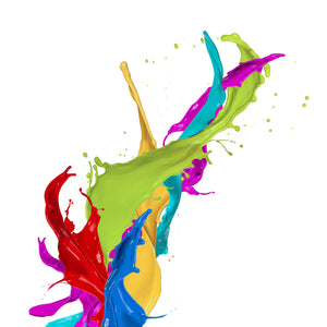 Coloured Paint Splashes Wall Mural