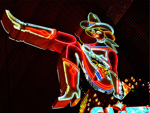Cowgirl Neon Sign Las Vegas Wall Mural