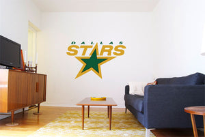 Dallas Star Hockey Logo Wall Decal
