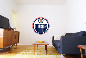 Edmonton Oilers Hockey Logo Wall Decal