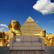 Load image into Gallery viewer, Egypt Cheops Pyramid and Sphinx Wall Mural