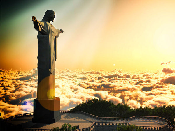 Famous Statue of Christ Brazil Wall Mural
