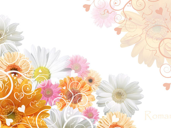 Floral Wedding Background Wall Mural