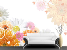 Load image into Gallery viewer, Floral Wedding Background Wall Mural
