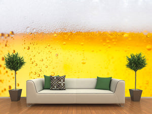 Fresh Beer with Froth Wall Mural