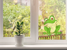 Load image into Gallery viewer, Funny Green Frog Cartoon Wall Decal
