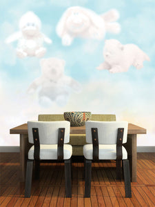 Funny Toy Cloud Wall Mural