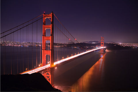 Golden Gate Bridge at Night Wall Mural