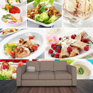 Gourmet Food Collage Wall Mural