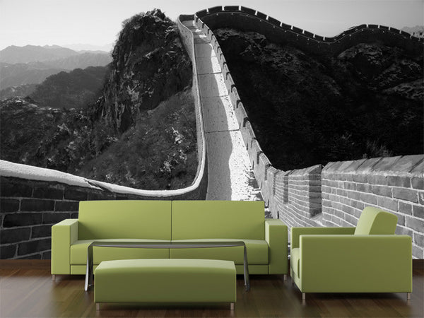 Great Wall in winter, China Wall Mural