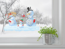 Load image into Gallery viewer, Happy Snowman Family Wall Decal