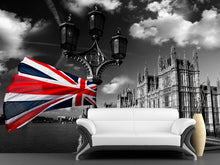 Load image into Gallery viewer, Houses of Parliament with Flag Wall Mural