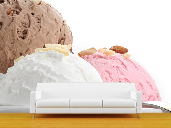 Icecream Scoop Wall Mural