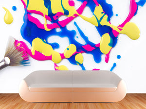 Paint Splat Wall Mural