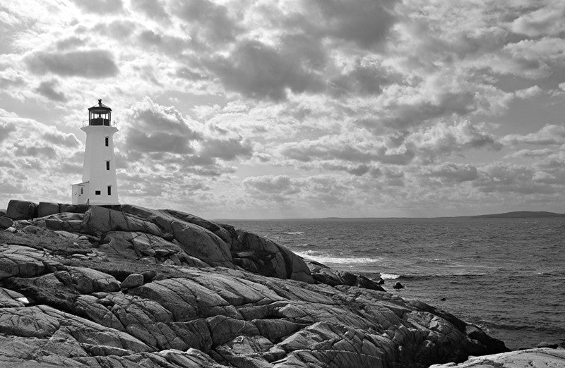 Lighthouse at Peggy's cove, Nova Scotia Wall Mural