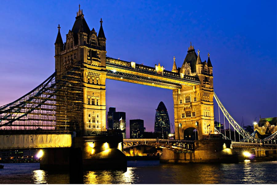 London Tower Bridge at Night Wall Mural