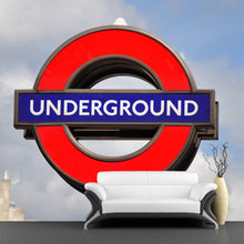 Load image into Gallery viewer, London Underground transit logo Wall Mural