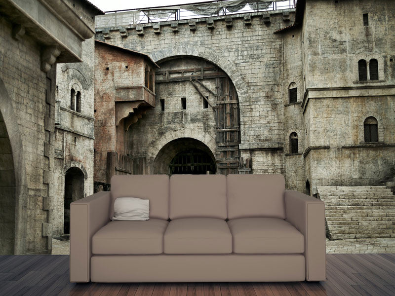 Castle Wall Mural medieval castle wall mural – majestic wall art