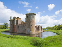 Load image into Gallery viewer, Moated Caerlave Rock Castle Scotland Wall Mural