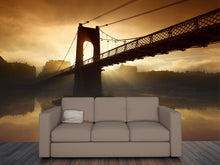 Load image into Gallery viewer, Morning Bridge Wall Mural