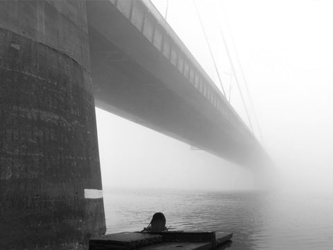Moscow Bridge in Fog Kiev Wall Mural