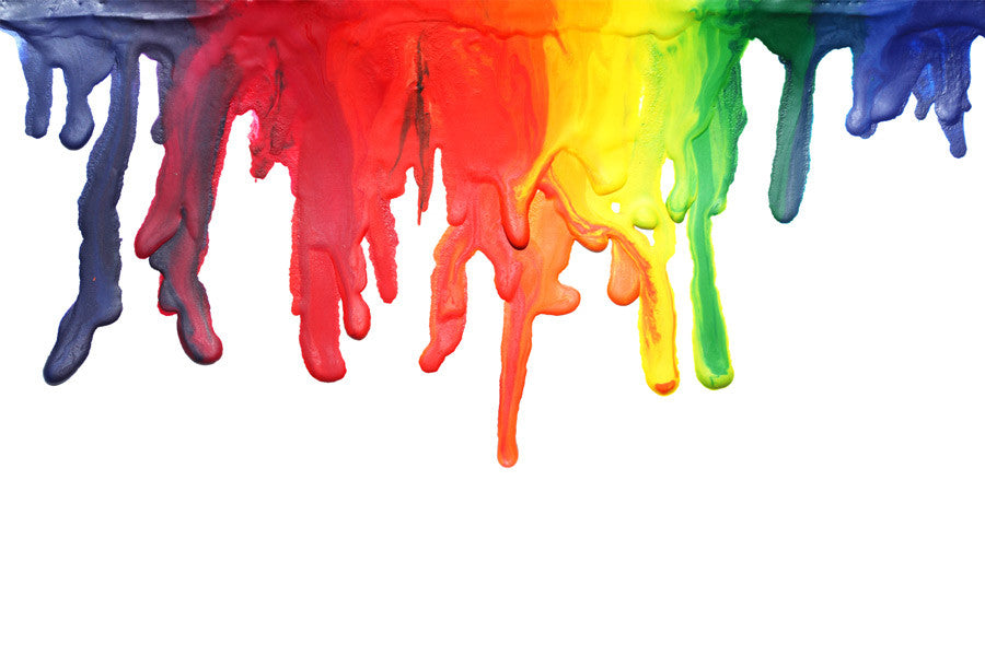 Multicoloured Paint Dripping Wall Mural