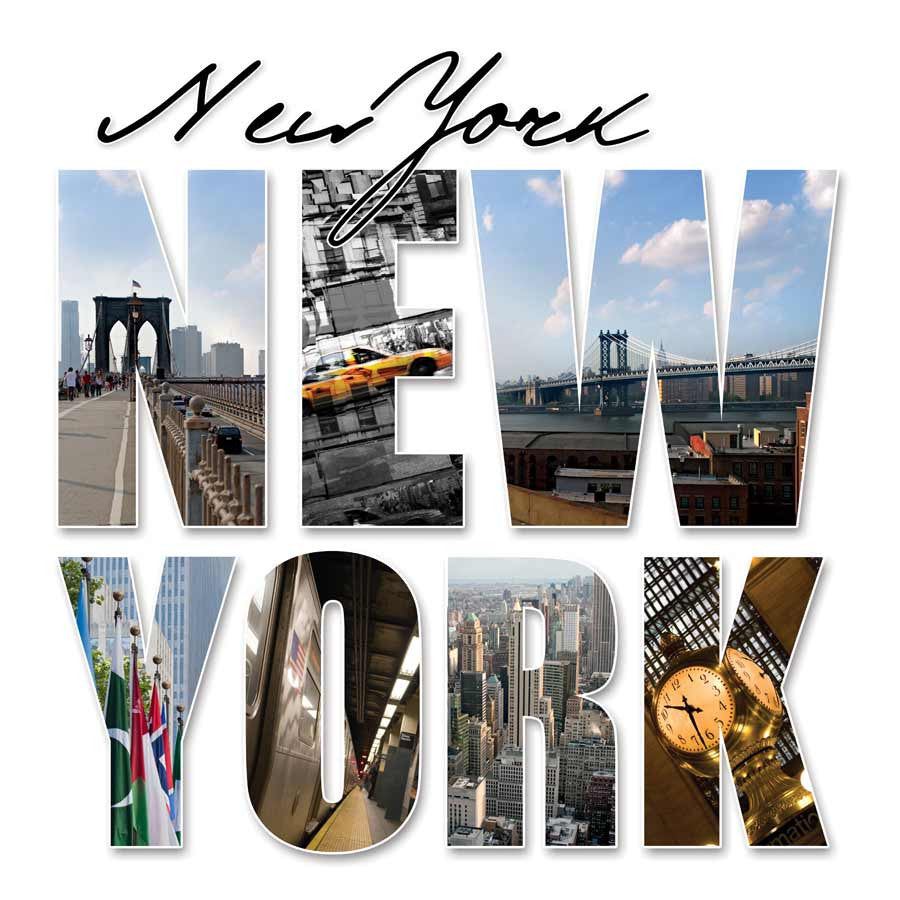 New York City Montage Wall Mural