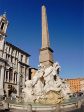 Load image into Gallery viewer, Piazza-Novona Rome Fountain-of-Four-Rivers Wall Mural