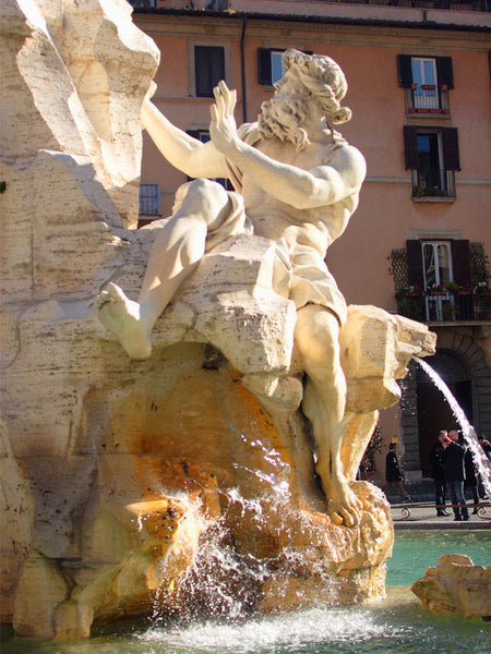 Piazza Novona Rome Fountain-of-four-Rivers Wall Mural