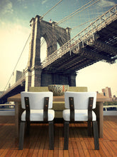 Load image into Gallery viewer, Pier of Brooklyn Bridge New York City Wall Mural