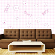 Load image into Gallery viewer, Pink Baby Wall Mural