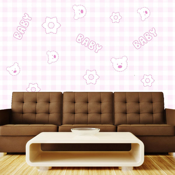 Pink Baby Wall Mural