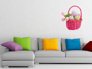 Cheerful Easter Eggs and Wall Decal