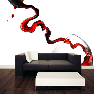 Pouring Wine into Wine Glass Wall Mural