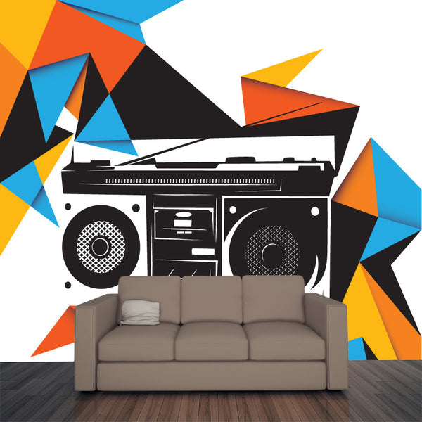 Retro Radio Wall Mural