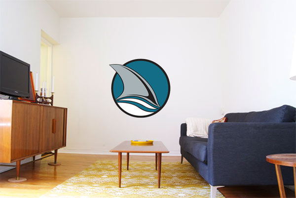 San Jose Sharks Hockey Logo Wall Decal