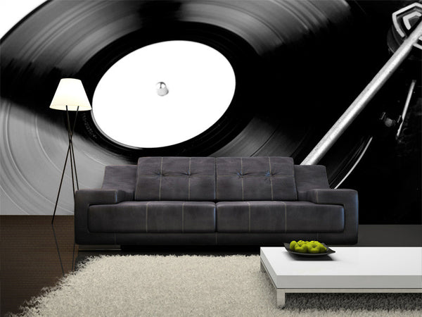 Spinning Vinyl Record Wall Mural