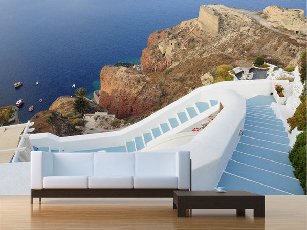 Steps to the Beach Greece Wall Mural