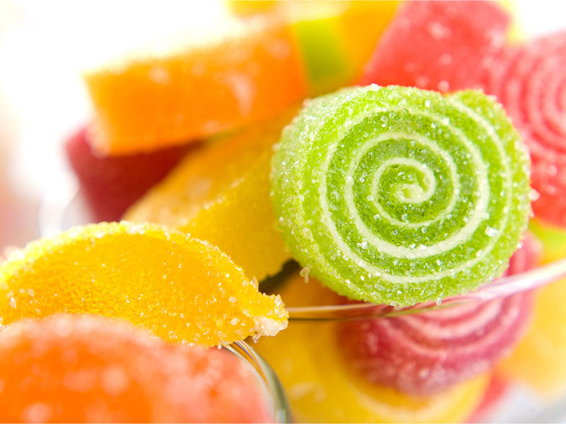Sugary Colorful Spiral Candy Wall Mural