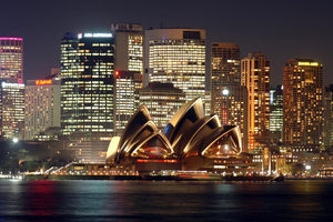 Sydney Opera House at Night Wall Mural