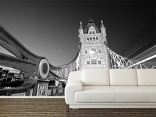 Load image into Gallery viewer, Tower Bridge in Black and White Wall Mural