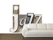 Load image into Gallery viewer, Vintage Jazz Word Wall Mural