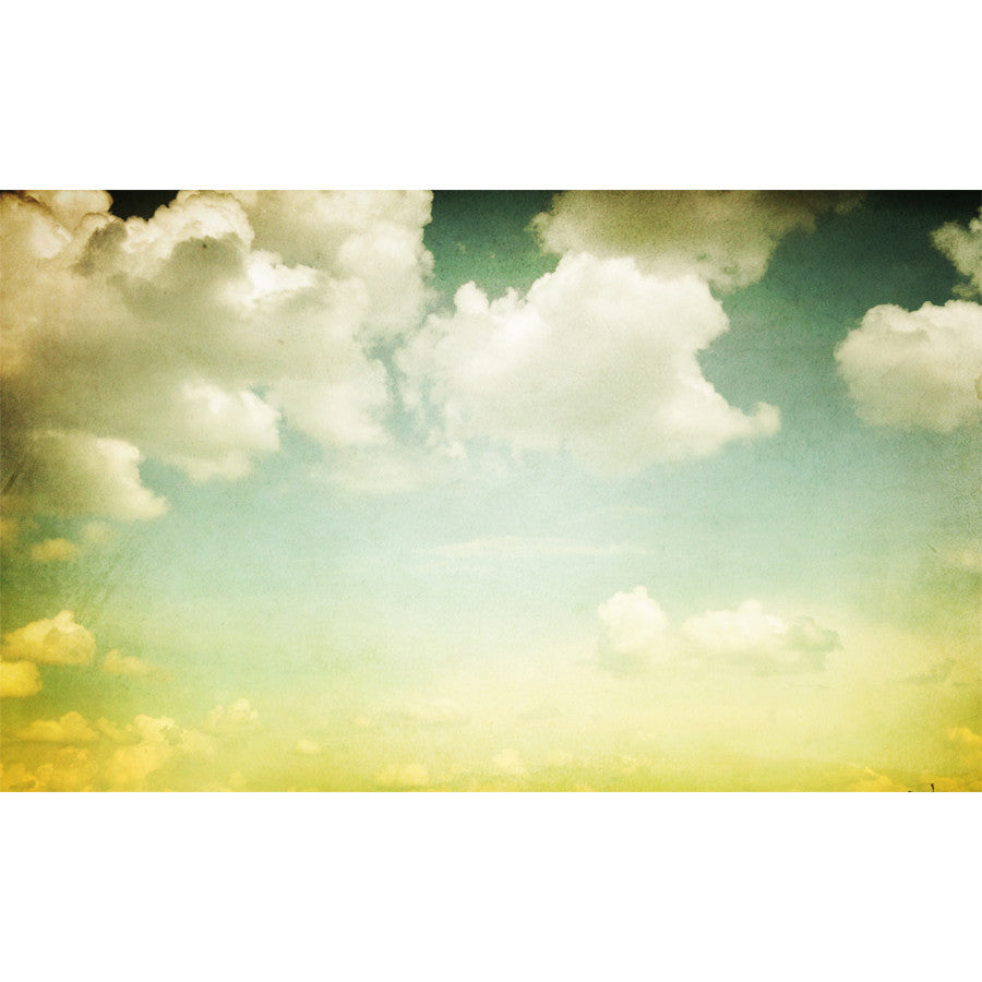 Vintage Styled Cloudy Sky Wall Mural