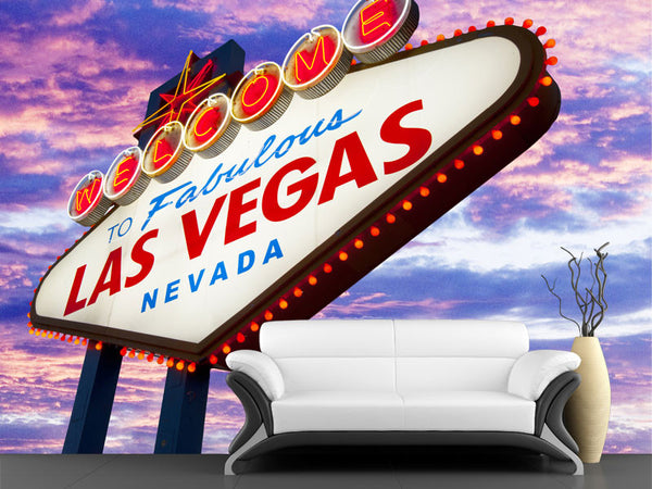Welcome to Fabulous Las Vegas Neon Sign Wall Mural