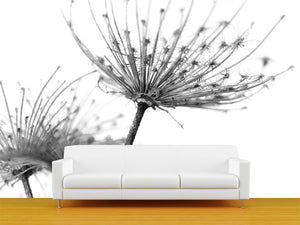 White Flower Wall Mural