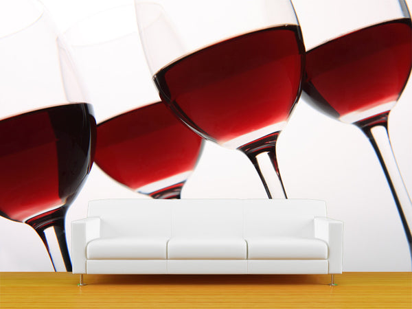 Wine Glasses Wall Mural
