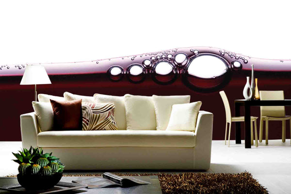 Wine Bubbles Wall Mural